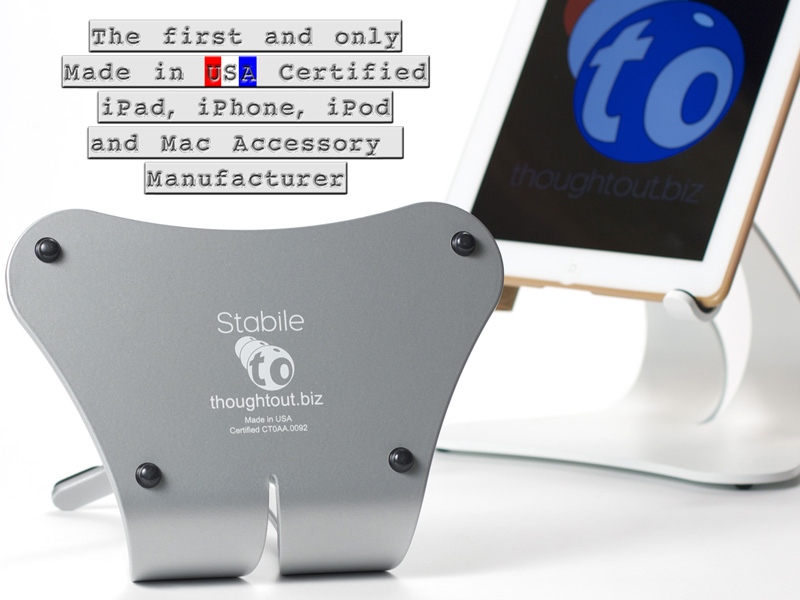 iPad Stand Made in USA Certified